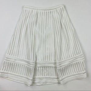H&M White Textured Skirt Sz 8